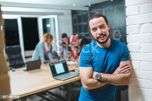 629805626 istock photo Photo of young business man in a conference room 637482558