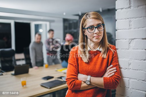 629805626 istock photo Photo of young business woman in a conference room 623114416