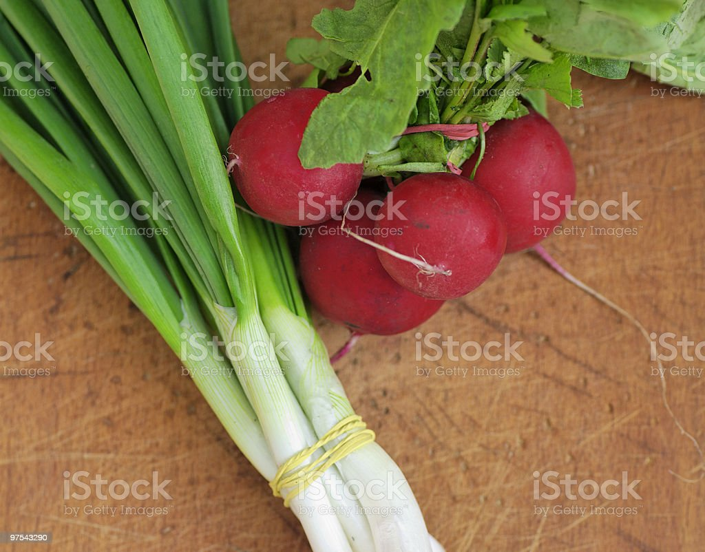 photo onion and radish royalty-free stock photo