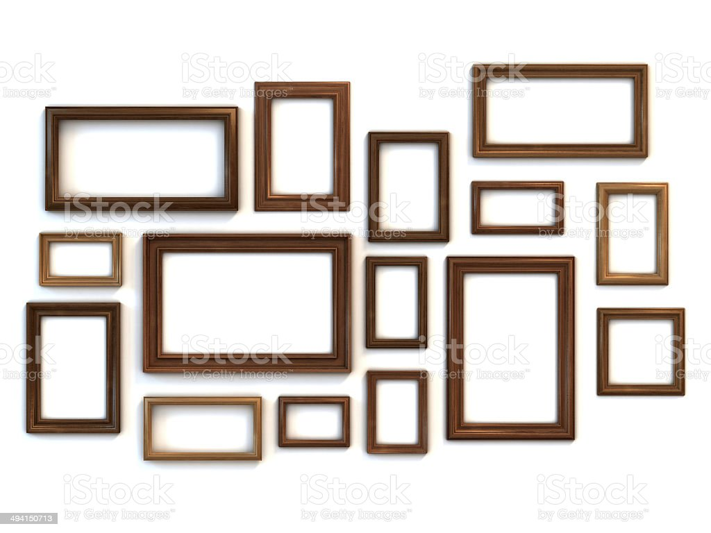 photo or painting frames set stock photo