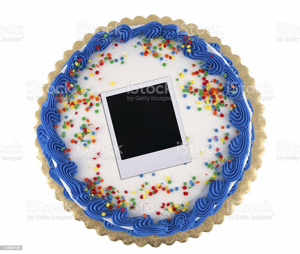 Photo party cake stock photo