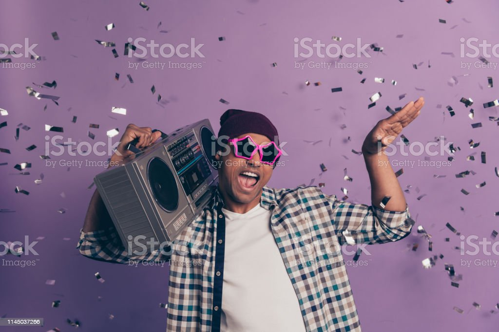 Photo Portrait Of Crazy Funny Funky Cheerful Having Free