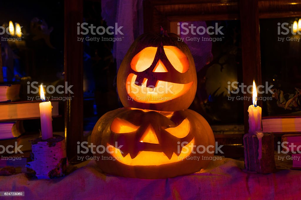 photo pumpkins for halloween all saints day royalty free stock photo