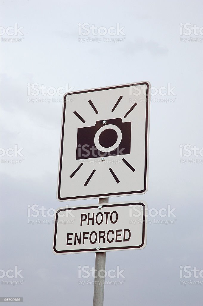 photo radar sign royalty-free stock photo