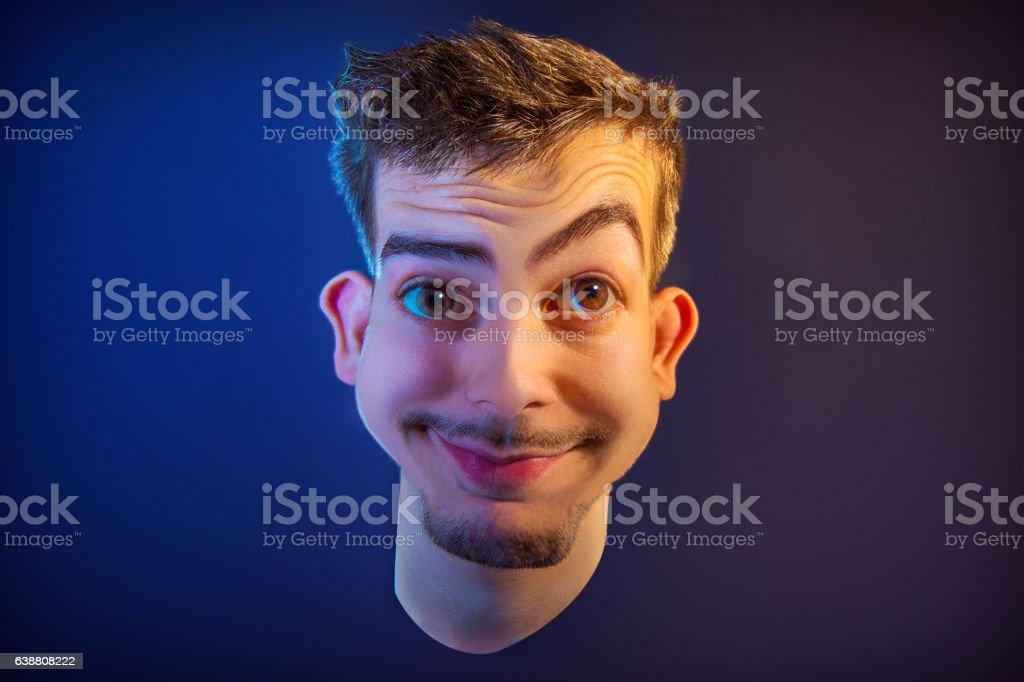 Photo Realistic Caricature of Male stock photo