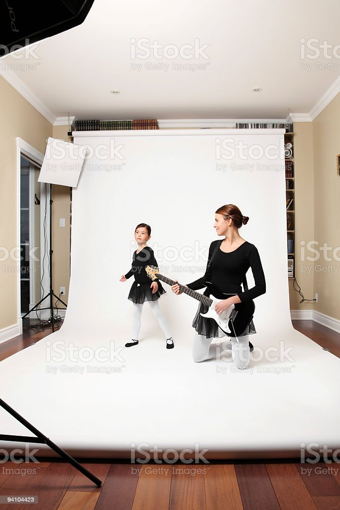Photo session with ballet dancer royalty-free stock photo