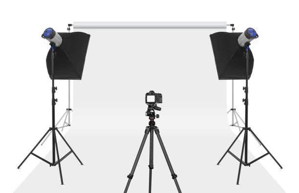 Photo shooting Photo studio set-up isolated photographic equipment stock pictures, royalty-free photos & images