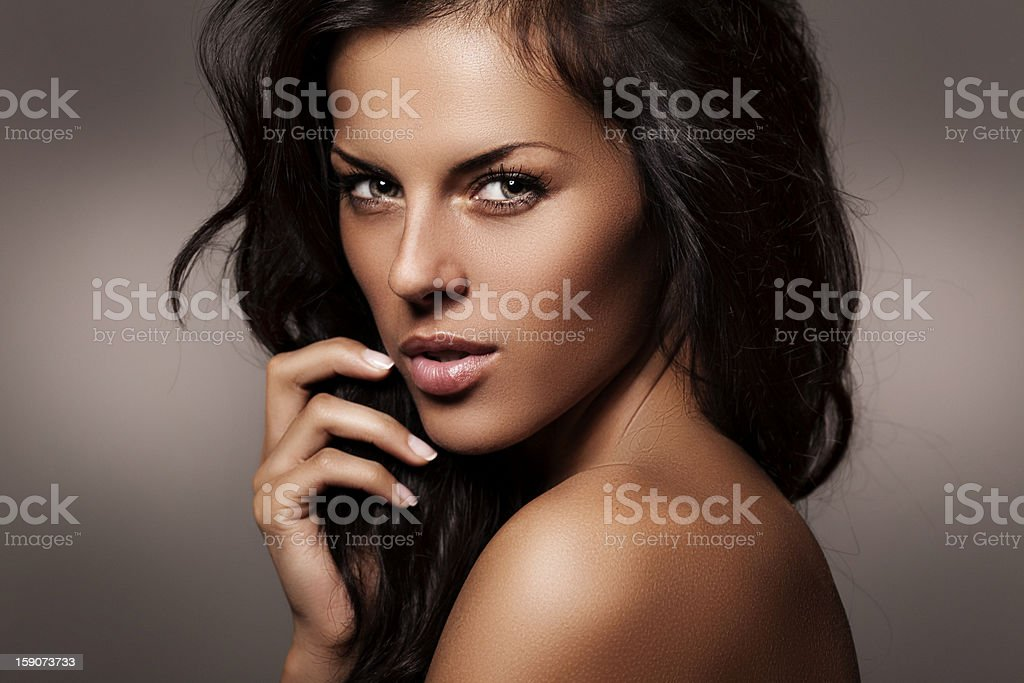Photo shot of young beautiful woman royalty-free stock photo