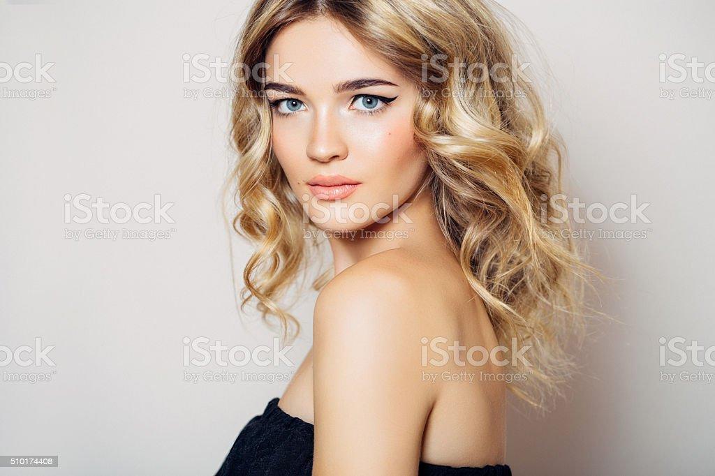 Photo shot of young beautiful woman stock photo