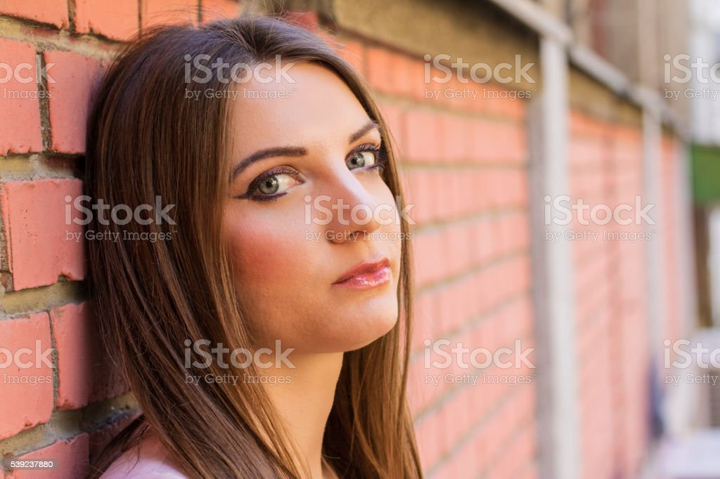 Photo shot of young beautiful woman royalty-free stock photo