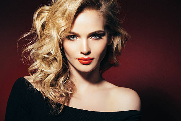 photo shot of young beautiful woman - glamour stock photos and pictures