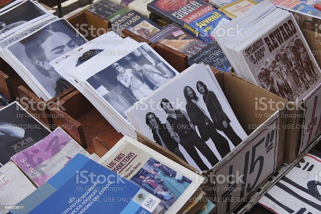 Photo street market in Mexico City stock photo