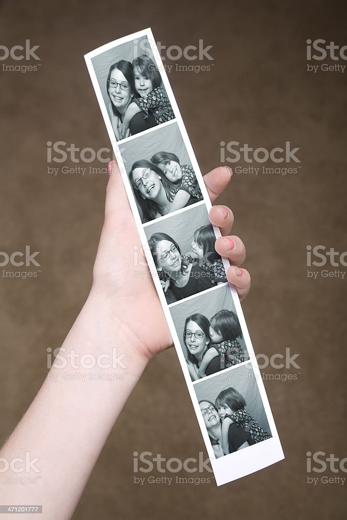 A photo strip from a photo booth  stock photo