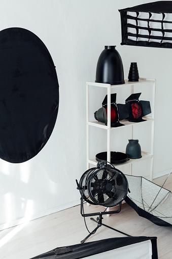 istock Photo studio equipment flash accessories professional photographer 1218597130