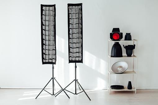 istock Photo studio equipment flash accessories professional photographer 1218597474
