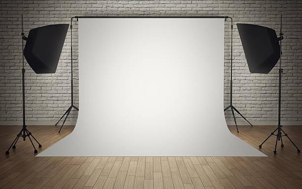 Photo studio equipment stock photo