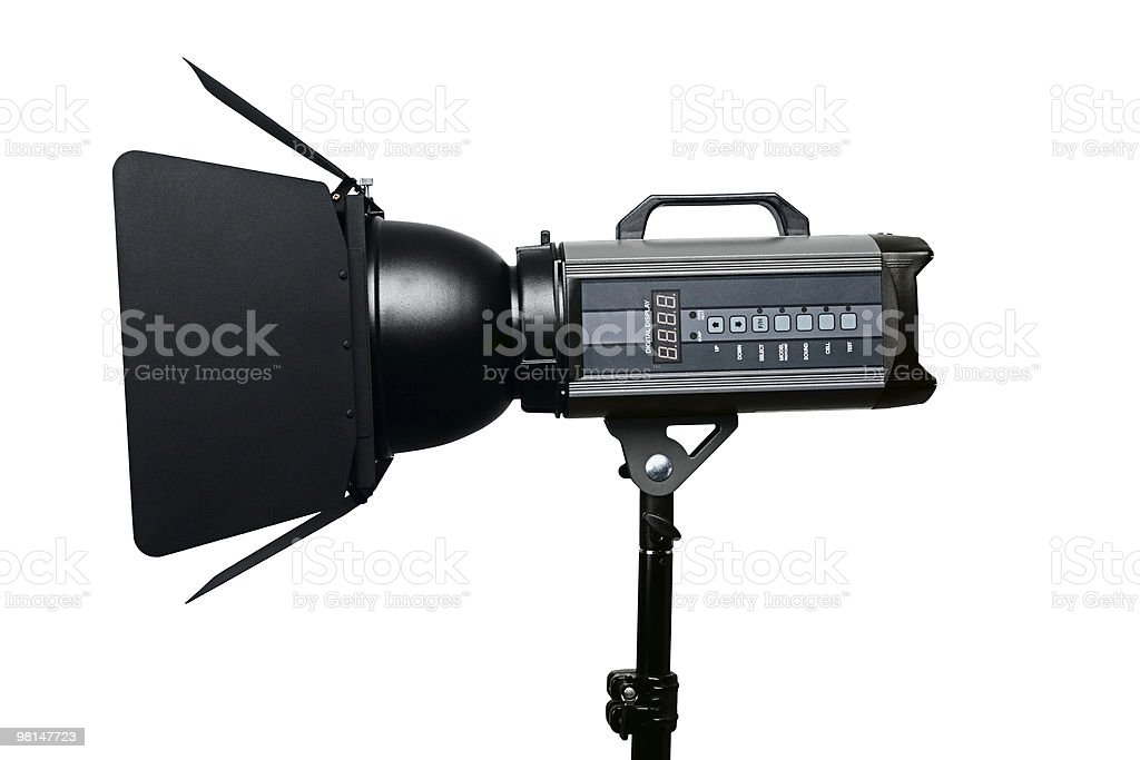 Photo studio flash lighting equipment royalty-free stock photo