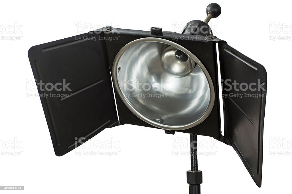Photo studio lighting equipment, isolated on white, with clipping path stock photo