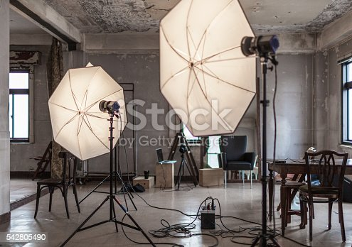 A view of a Japanese photo studio.