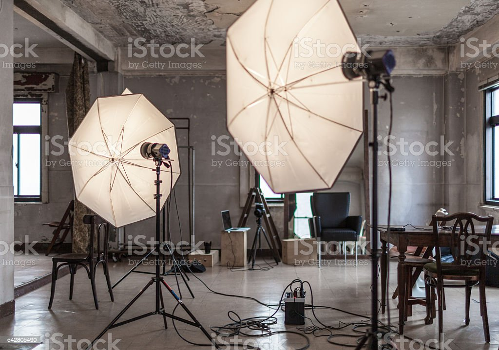 Photo studio stock photo
