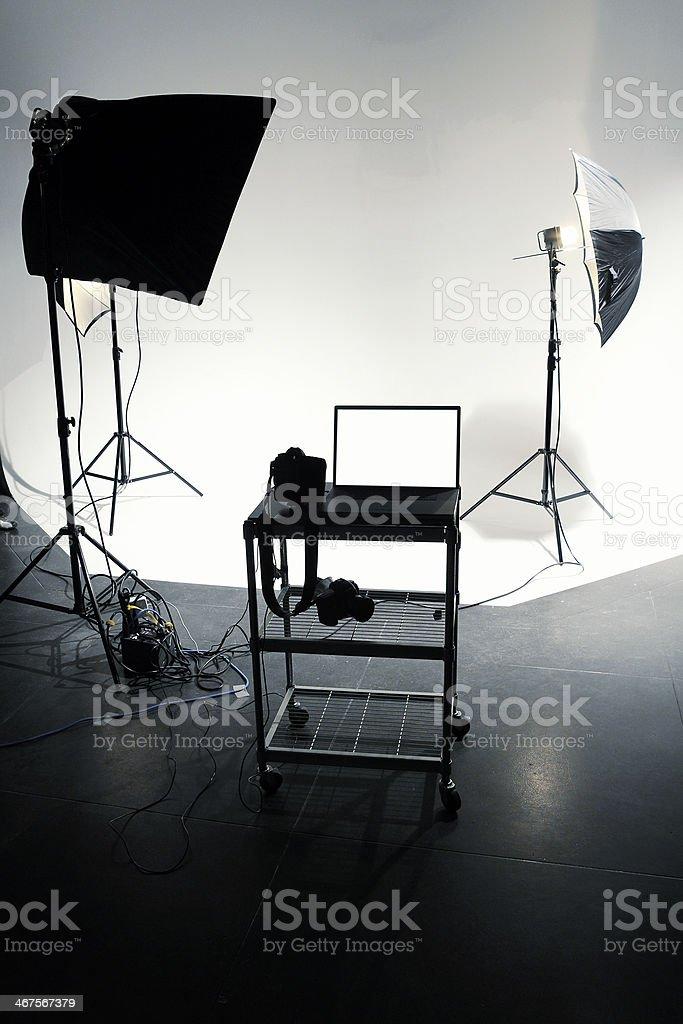 Photo Studio with Laptop royalty-free stock photo