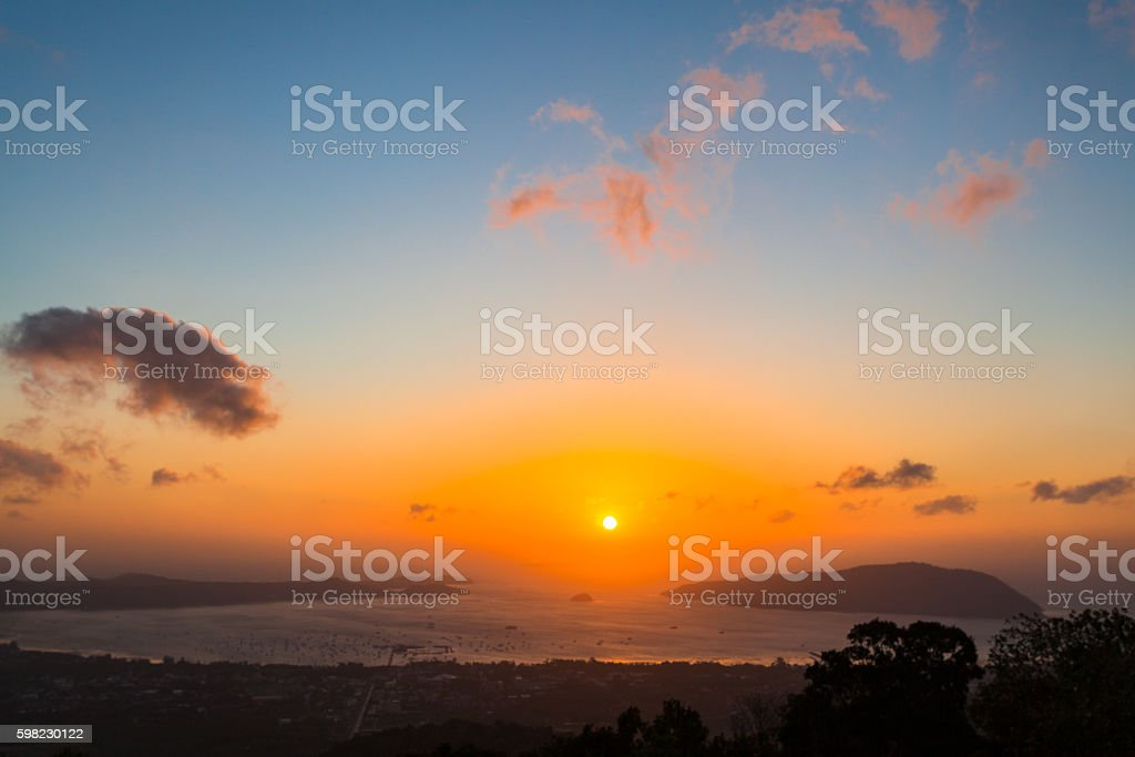 Photo sunrise from Big Buddha foto royalty-free