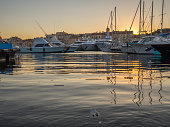 Saint-Tropez, France - august 9 2017: A photo taken in the port of Saint Tropez early in the morning.