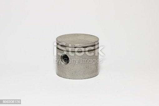 istock photo the piston and rings isolated on a white background 856308126