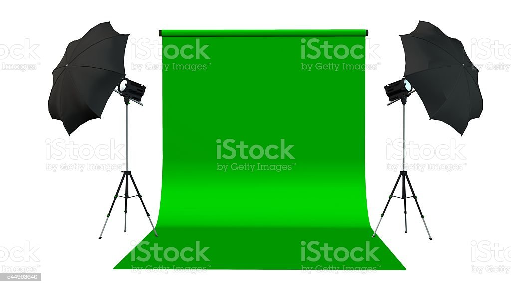 Photo / Video Studio with Green Screen and Light Equipment – Foto