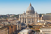 istock A photo view of St Peter's Basilica, at Vatican City 174878998