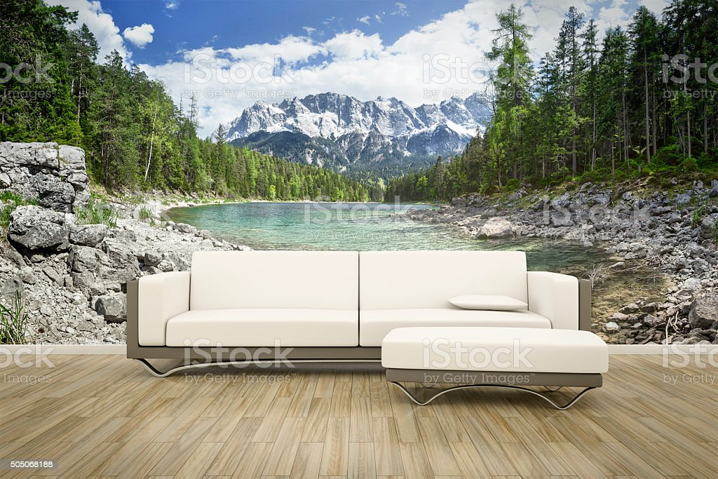 photo wall mural sofa floor stock photo