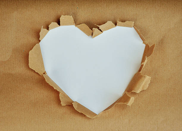 photo which shows a white heart - recycling heart bildbanksfoton och bilder