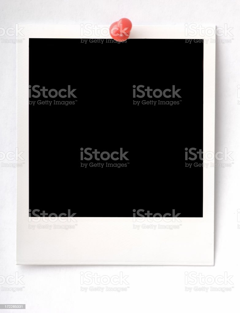 Photo with red thumbtack royalty-free stock photo