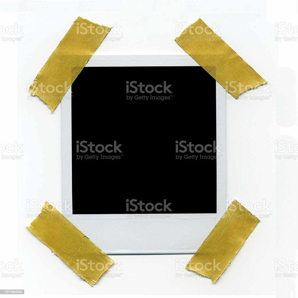 Photo with taped edges royalty-free stock photo