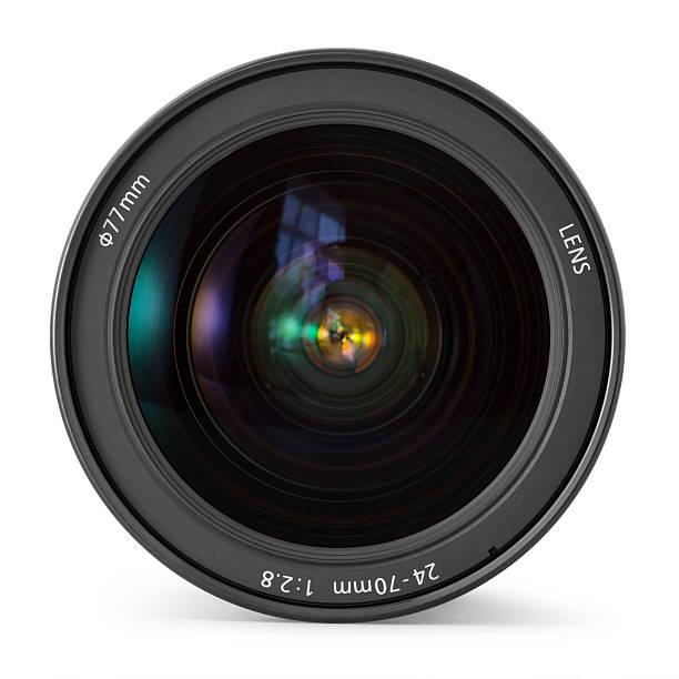 Photo zoom lens stock photo
