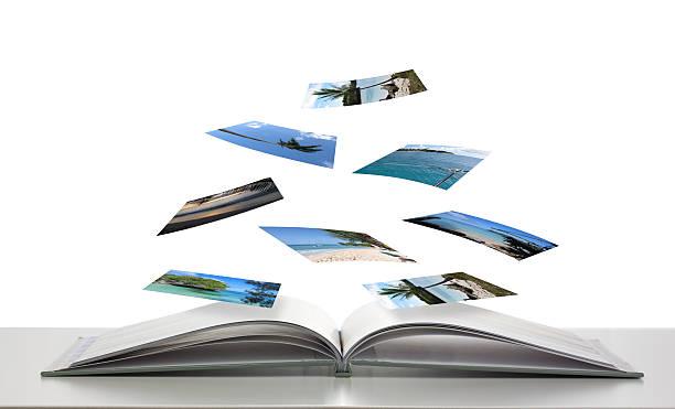 Photobook avec des Photos de scènes de plage flottants - Photo