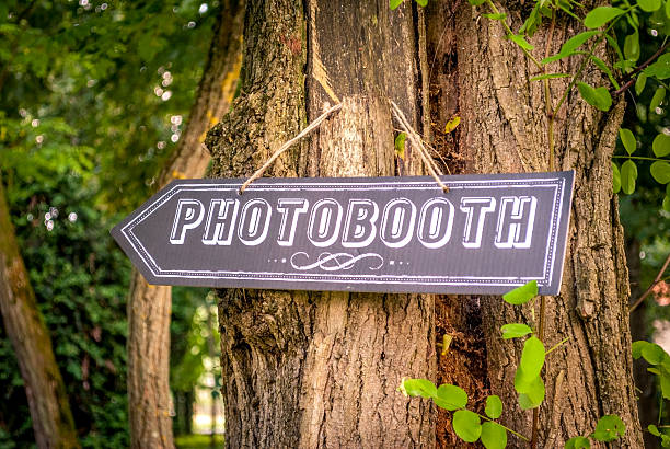 Photobooth direction at a wedding – Foto