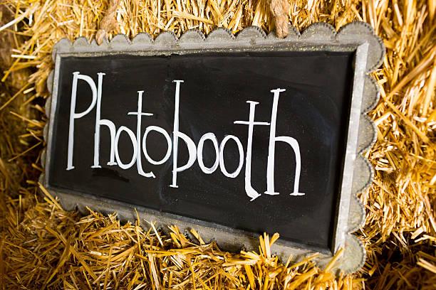 Photobooth Wedding Sign stock photo