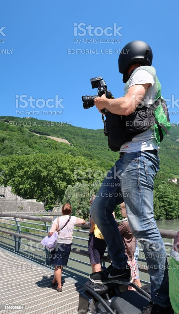 Photograph and acrobat stock photo