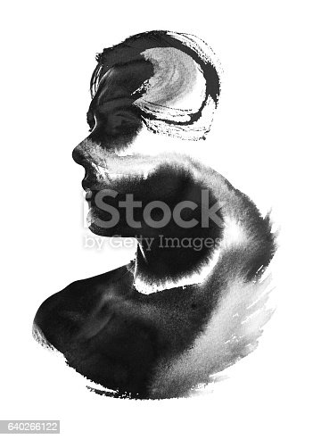 498089686 istock photo Photograph combined with ink painting 640266122