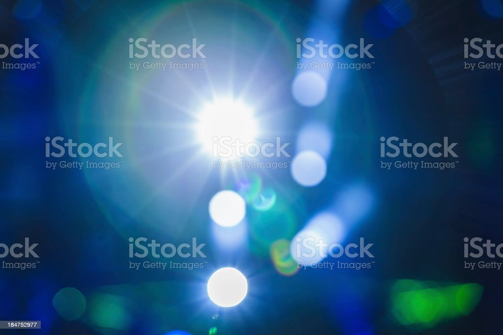 Photograph directly into a stage light stock photo