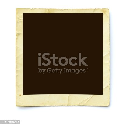 Closeup of a Antique photograph isolated on white.