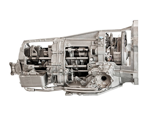 Photograph of a car transmission stock photo