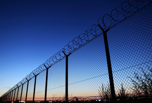 istock Photograph of a fence for a restricted area 175913576