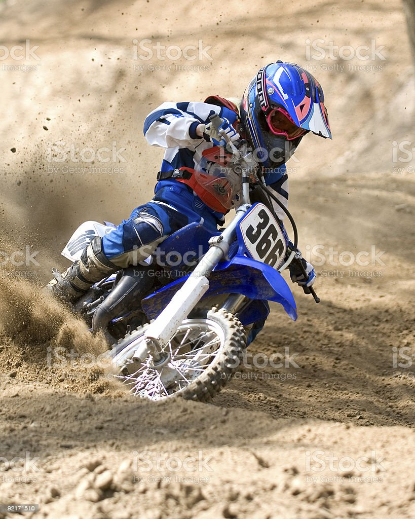 A photograph of a Pixstarr Motocross rider stock photo