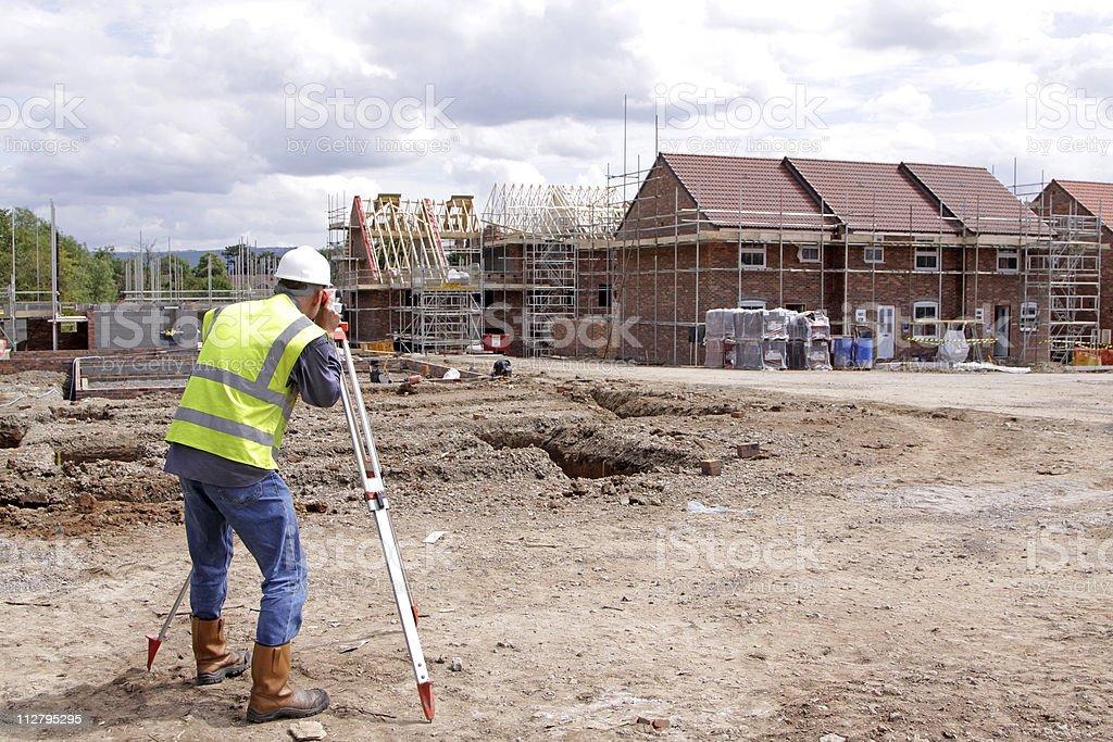 photograph of a surveyor stock photo