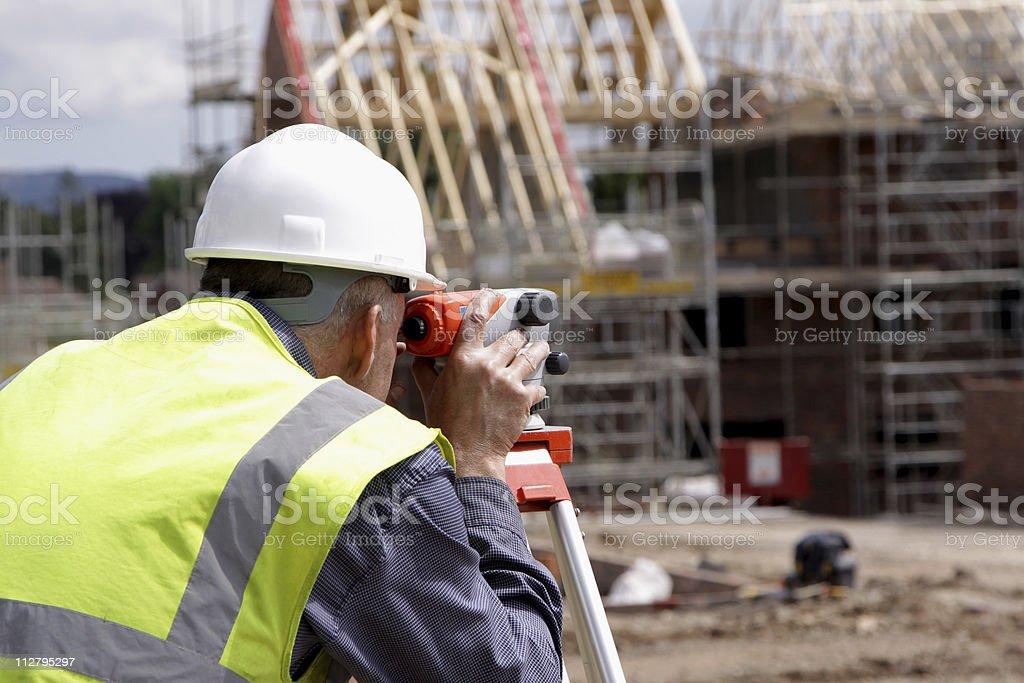 photograph of a surveyor royalty-free stock photo