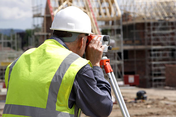 photograph of a surveyor - civil engineer stock photos and pictures
