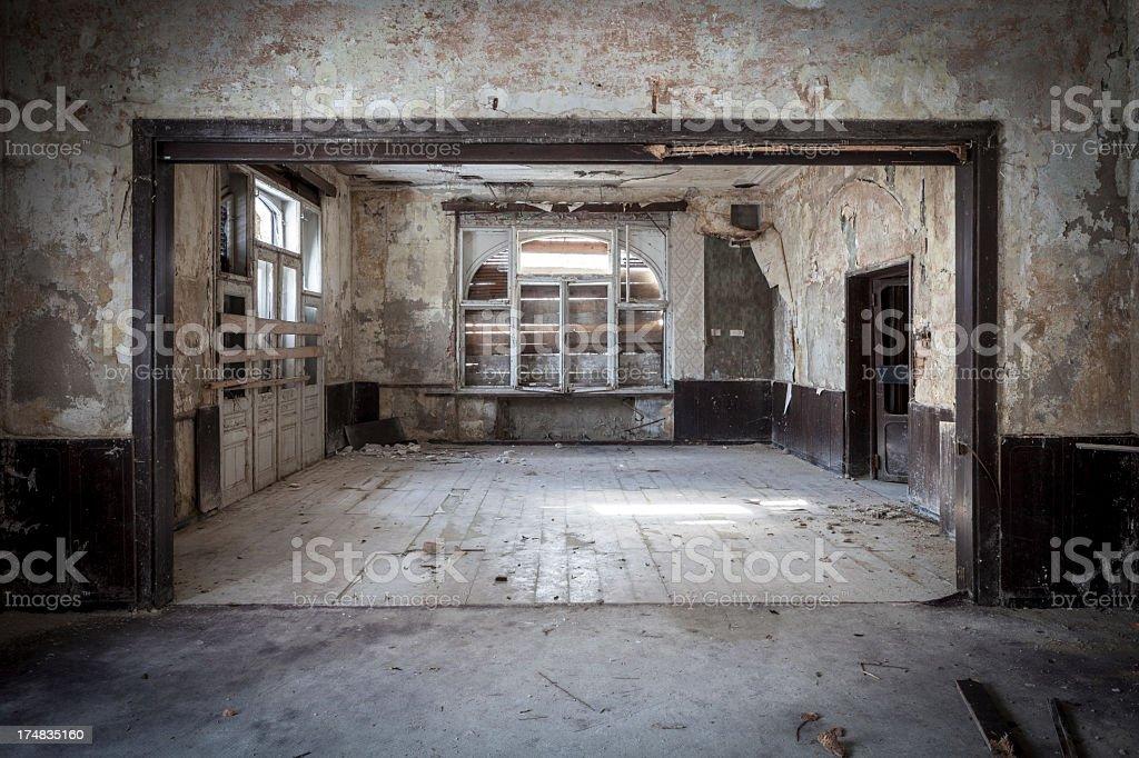 Photograph of an abandoned villa royalty-free stock photo