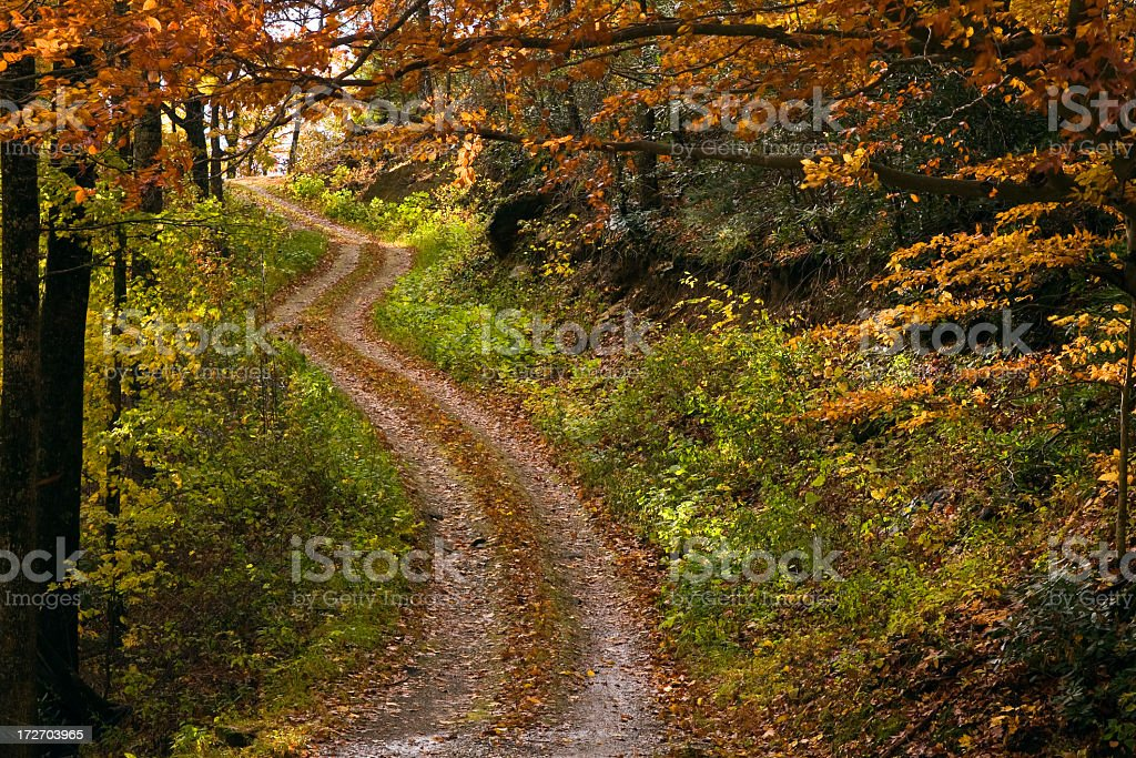 Photograph of Blue Ridge Parkway in Autumn royalty-free stock photo